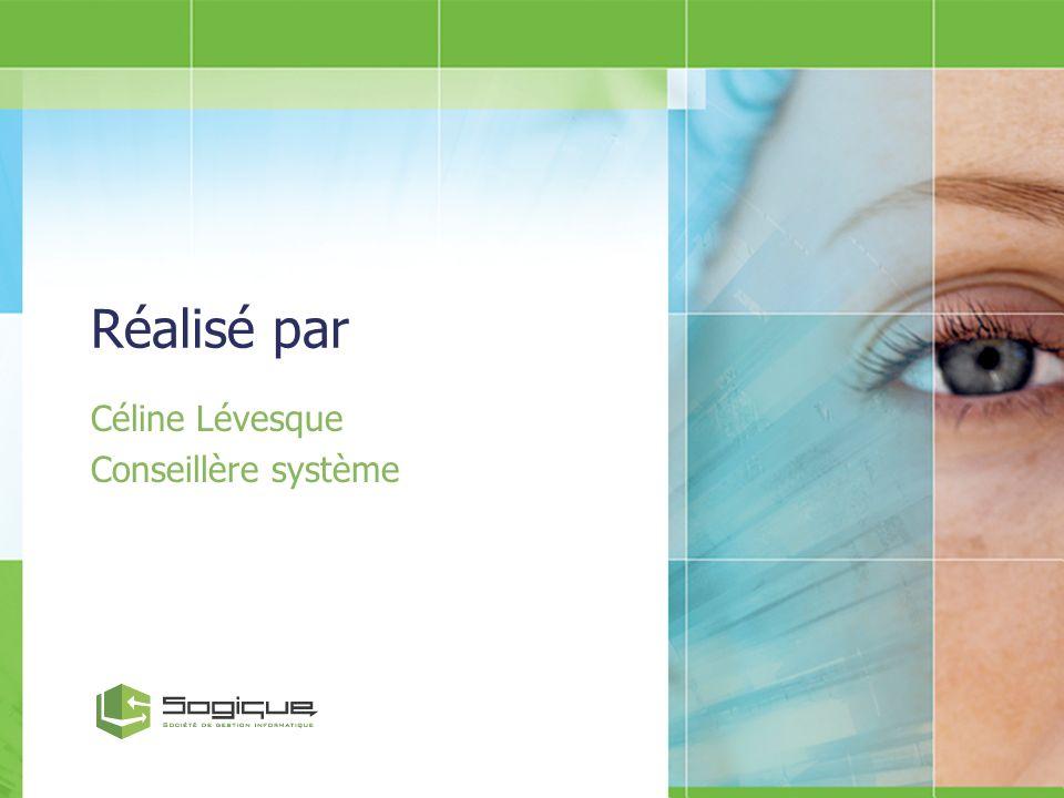 Céline Lévesque Conseillère système