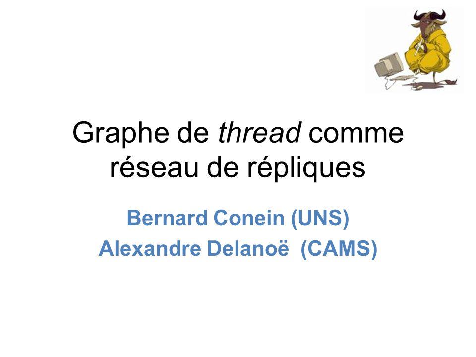Graphe de thread comme réseau de répliques