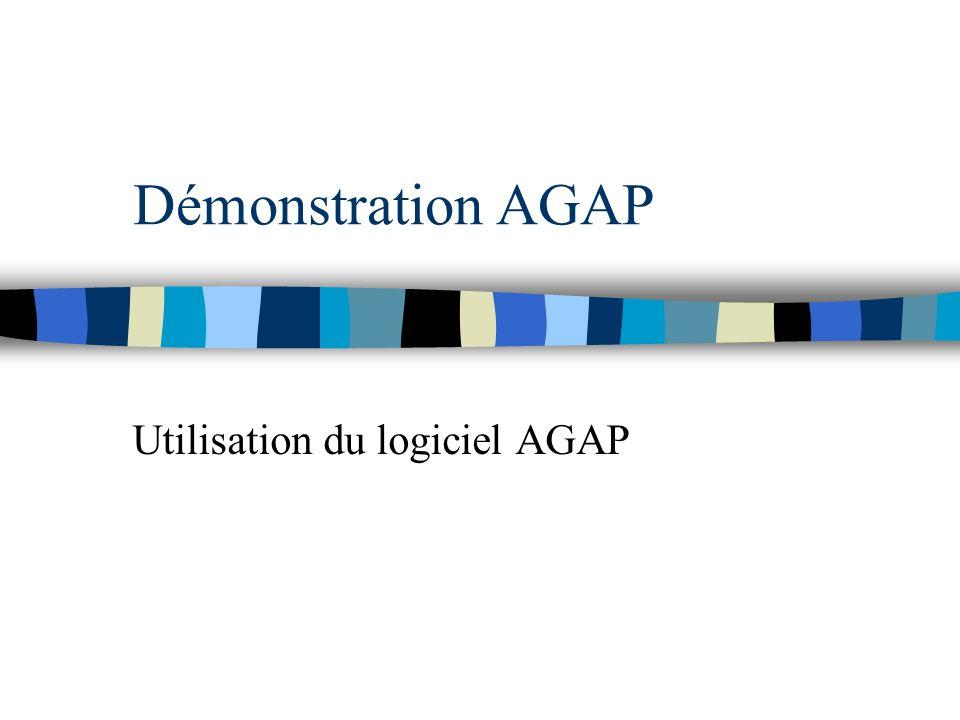 Utilisation du logiciel AGAP