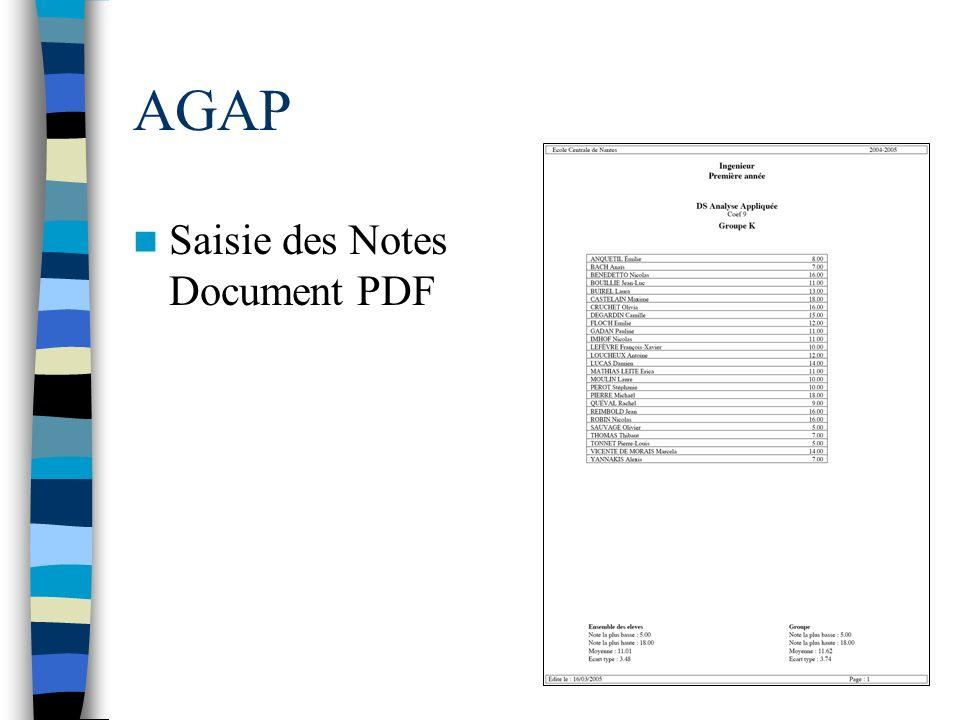 AGAP Saisie des Notes Document PDF