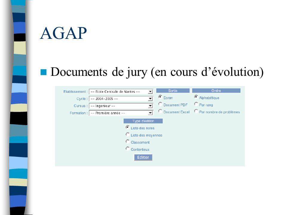 AGAP Documents de jury (en cours d'évolution)