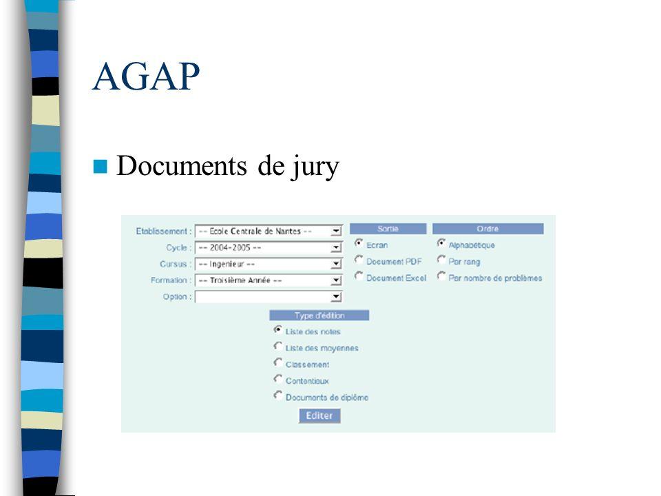 AGAP Documents de jury