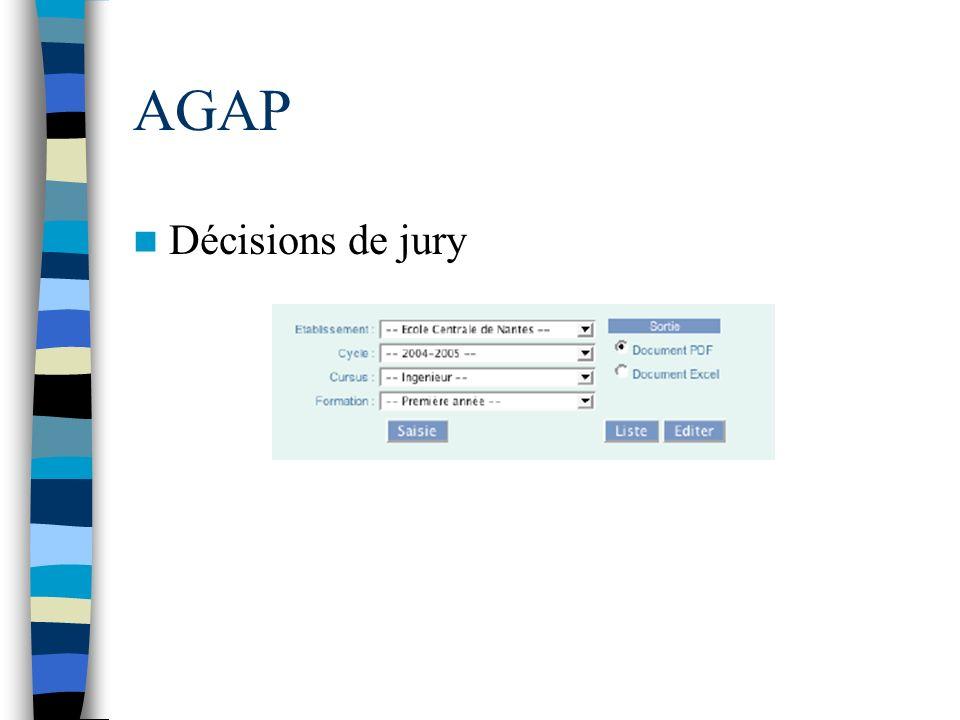 AGAP Décisions de jury
