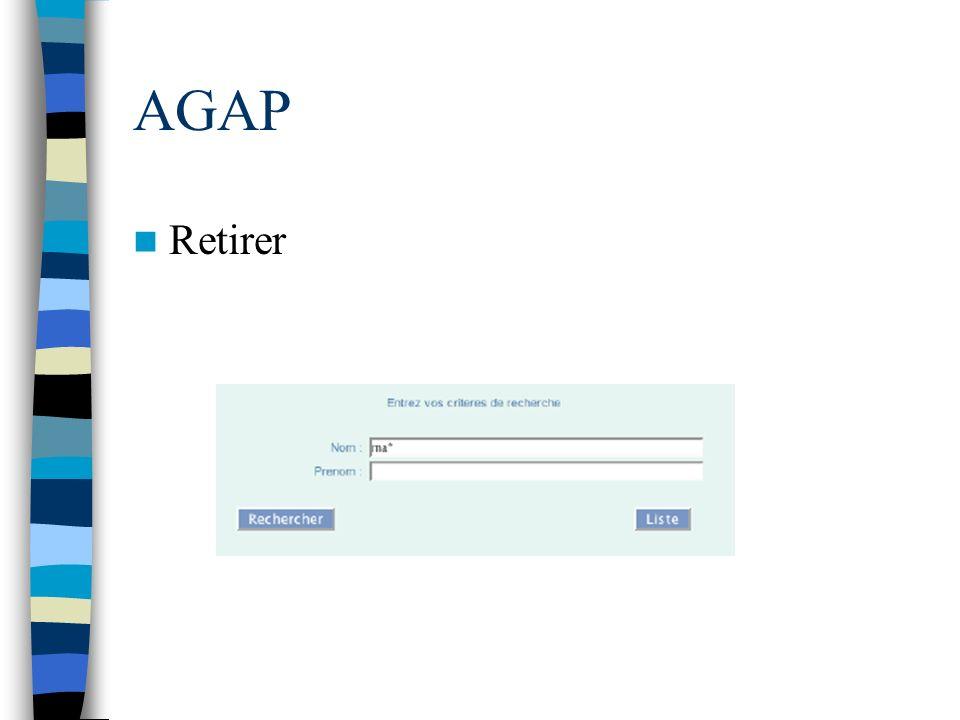 AGAP Retirer