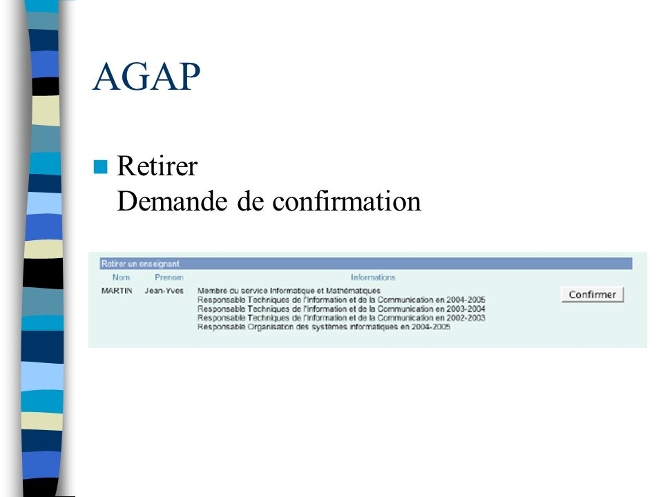 AGAP Retirer Demande de confirmation