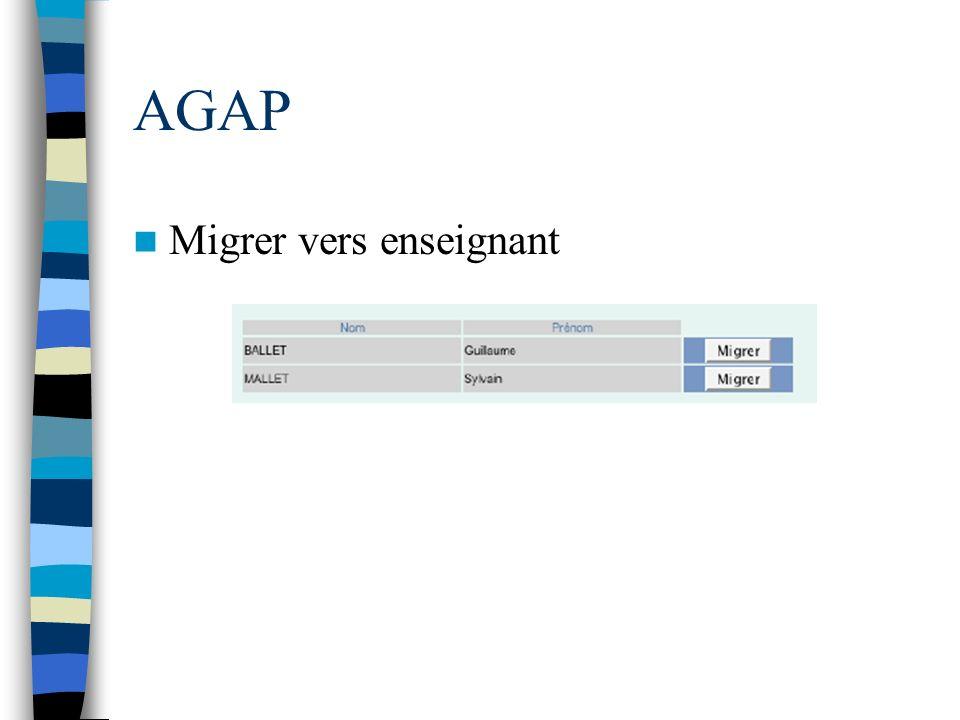 AGAP Migrer vers enseignant