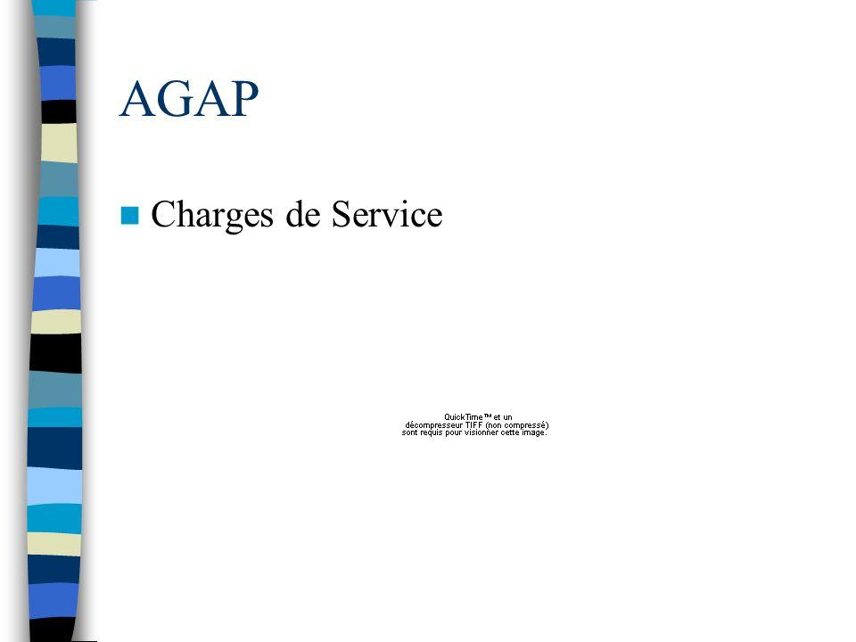 AGAP Charges de Service