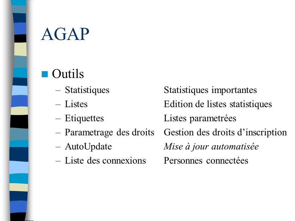AGAP Outils Statistiques Statistiques importantes
