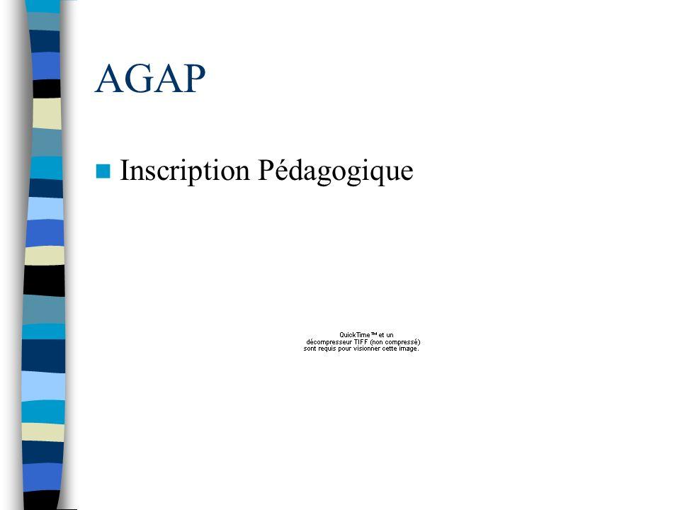 AGAP Inscription Pédagogique