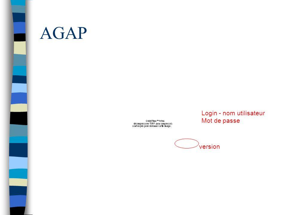 AGAP Login - nom utilisateur Mot de passe version
