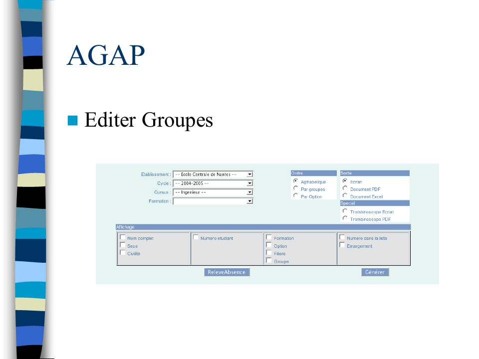 AGAP Editer Groupes