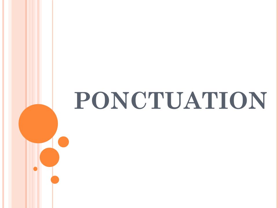 PONCTUATION