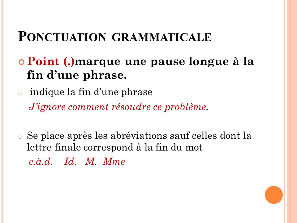 Ponctuation grammaticale