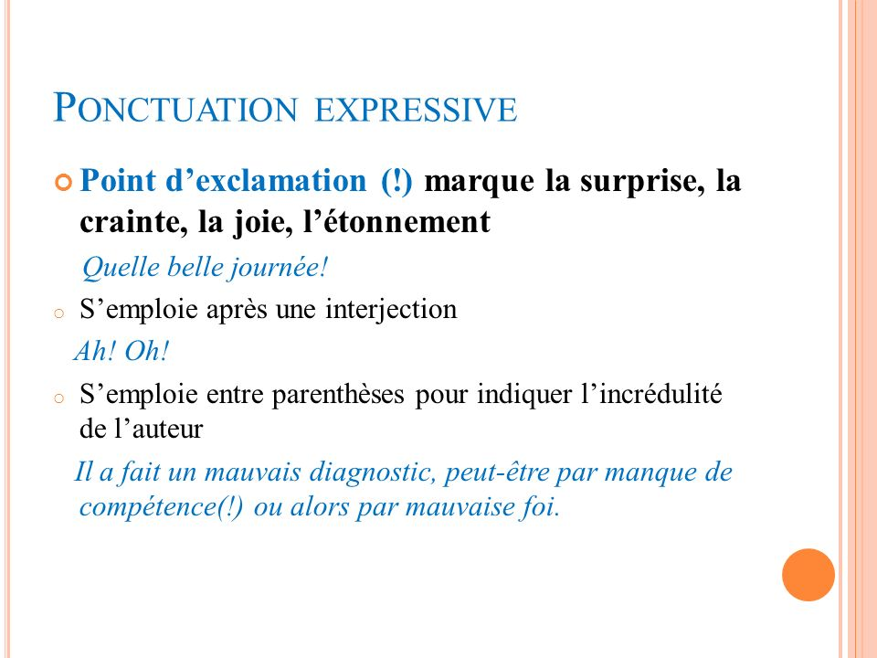 Ponctuation expressive