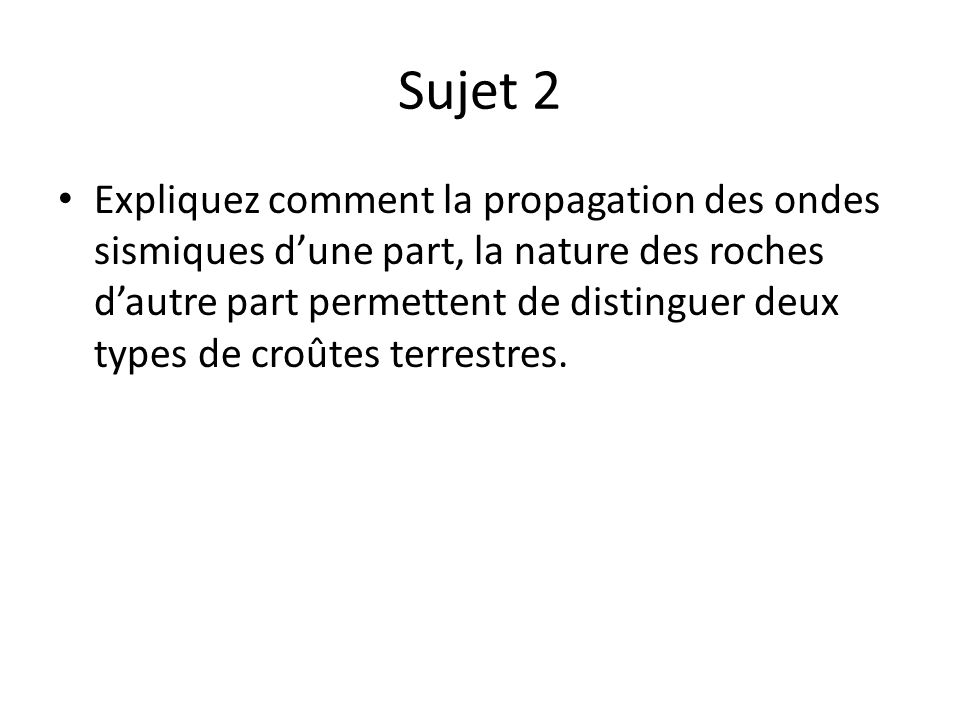Sujet 2