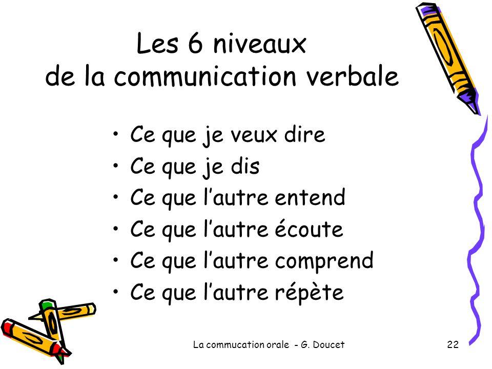 Les 6 niveaux de la communication verbale