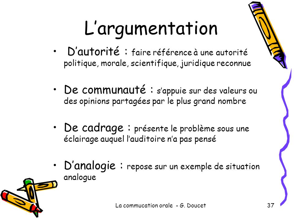 La commucation orale - G. Doucet