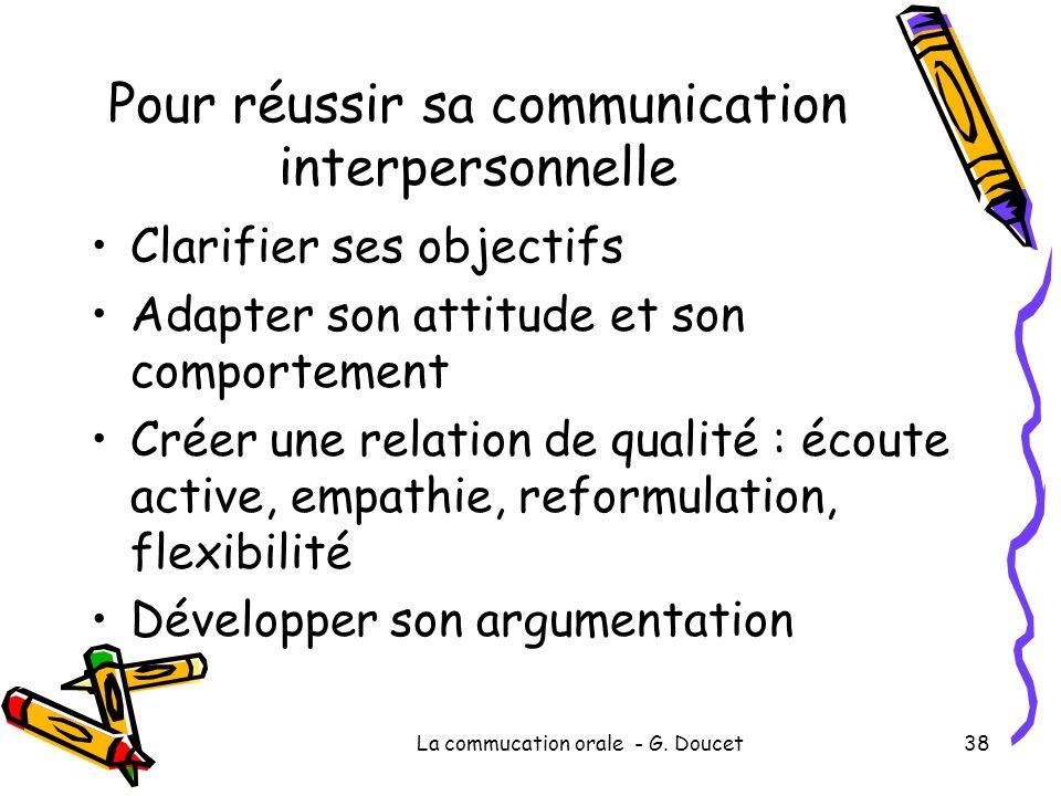 Pour réussir sa communication interpersonnelle