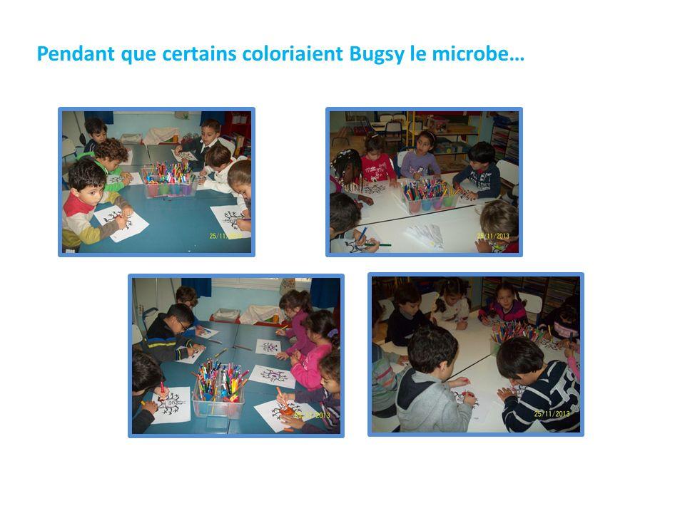 Pendant que certains coloriaient Bugsy le microbe…