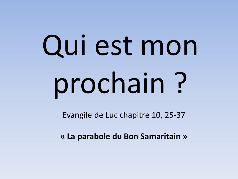 « La parabole du Bon Samaritain »