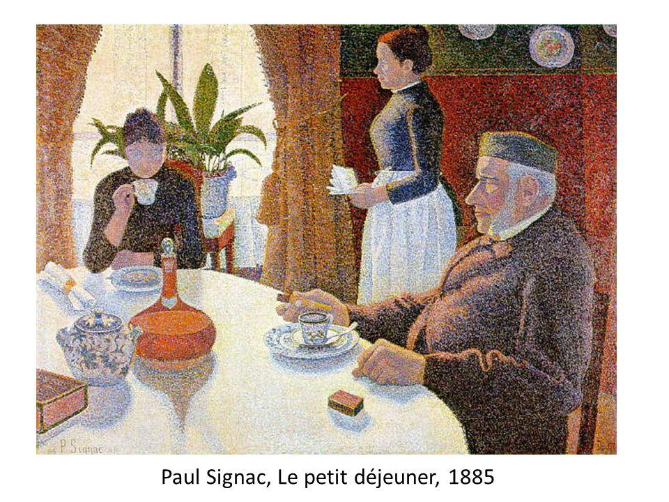 Paul Signac, Le petit déjeuner, 1885