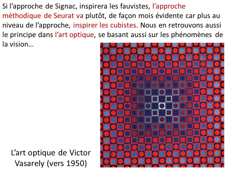 L'art optique de Victor Vasarely (vers 1950)