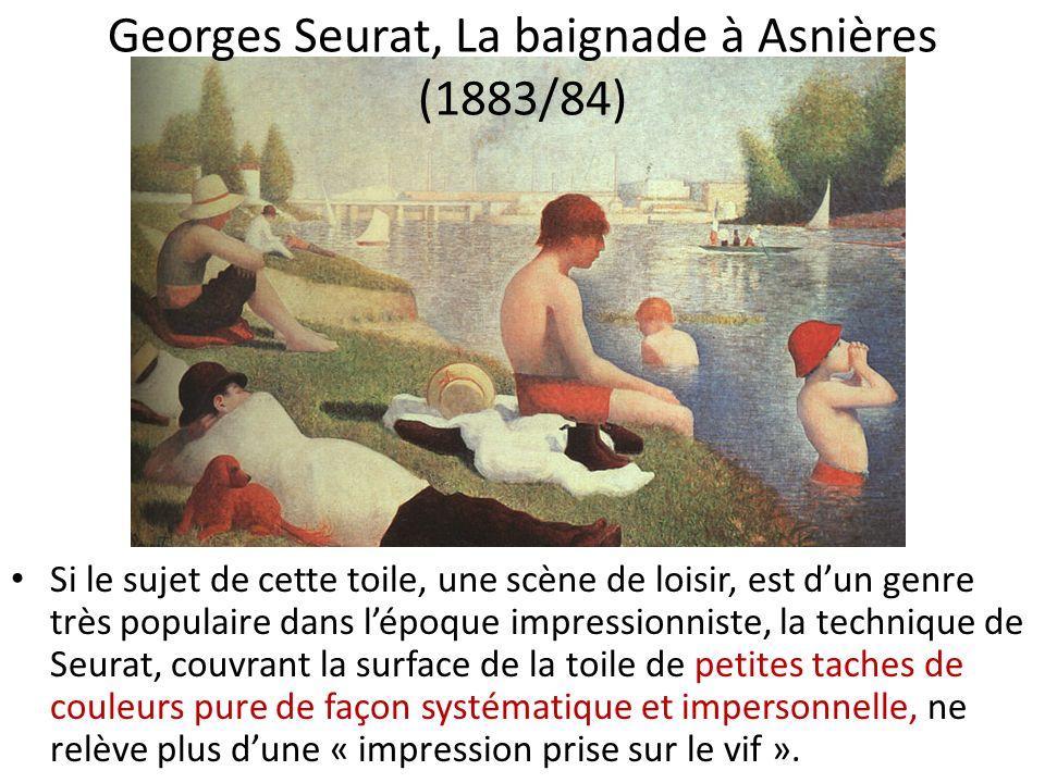 Georges Seurat, La baignade à Asnières (1883/84)