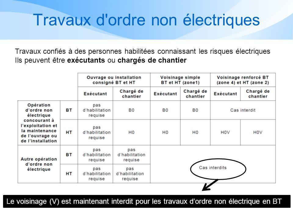 Travaux d ordre non électriques
