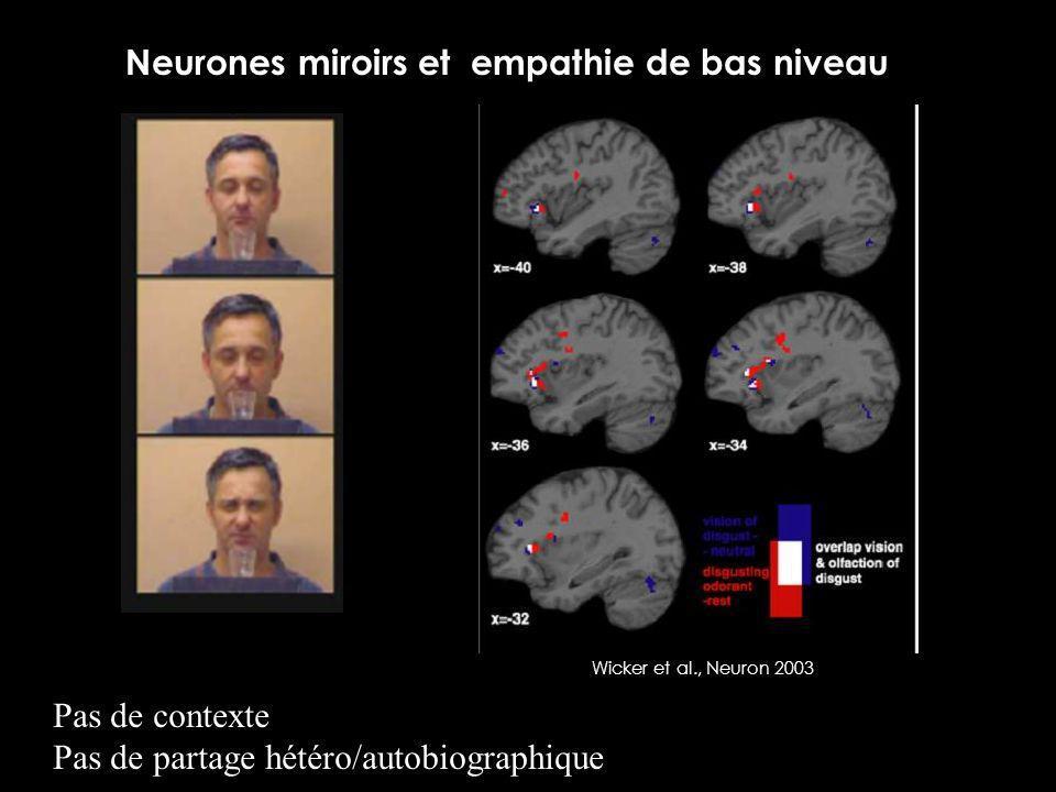Neurones miroirs et empathie de bas niveau