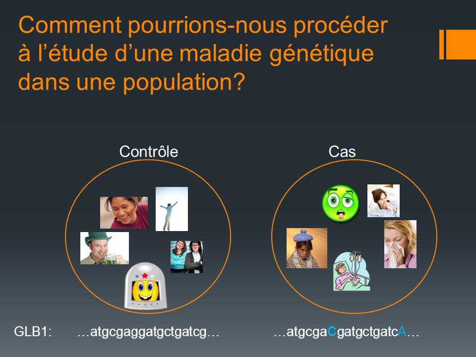 Comment pourrions-nous procéder à l'étude d'une maladie génétique dans une population