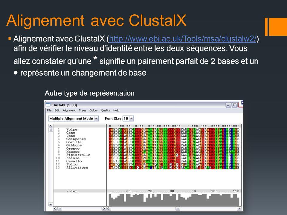 Alignement avec ClustalX