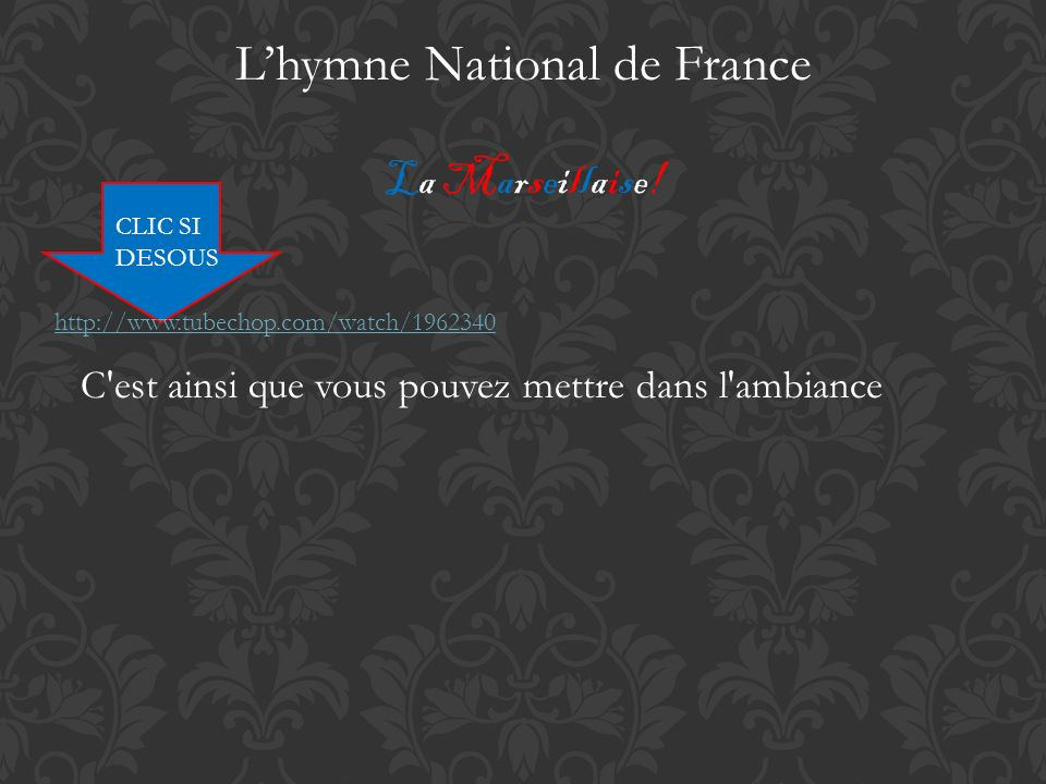 L'hymne National de France