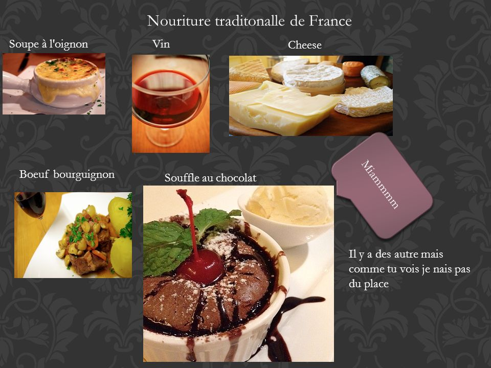 Nouriture traditonalle de France