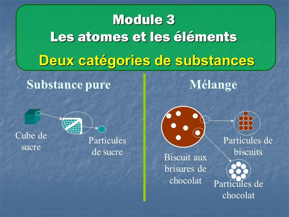 Deux catégories de substances