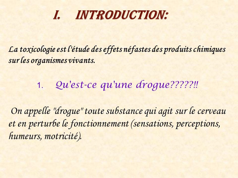 Introduction: La toxicologie est l étude des effets néfastes des produits chimiques sur les organismes vivants.