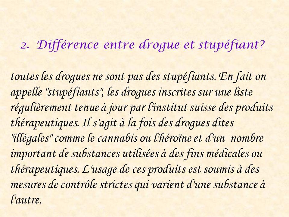 Différence entre drogue et stupéfiant