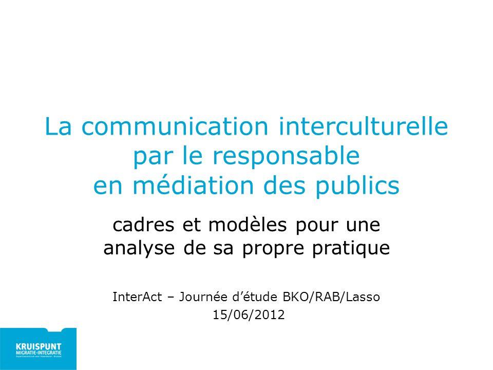 La communication interculturelle par le responsable en médiation des publics