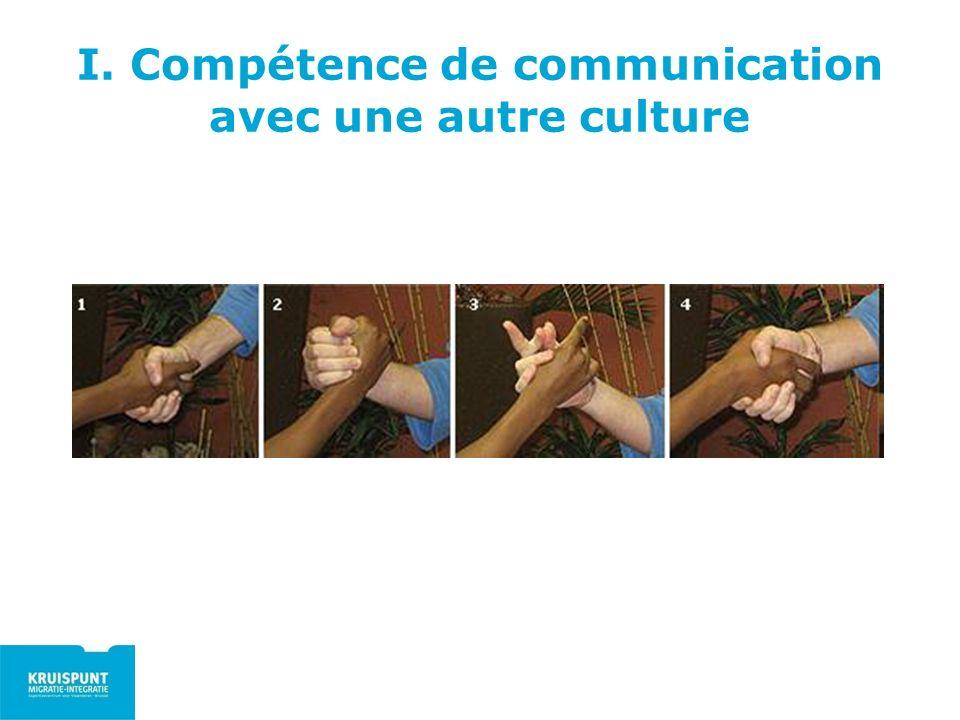 I. Compétence de communication avec une autre culture