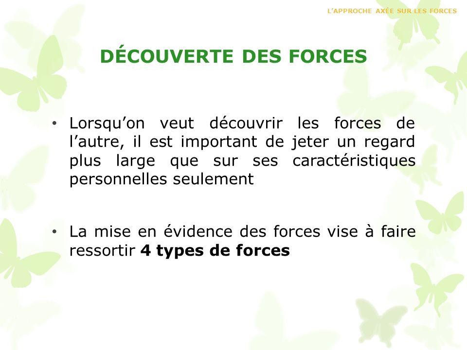 L'APPROCHE AXÉE SUR LES FORCES
