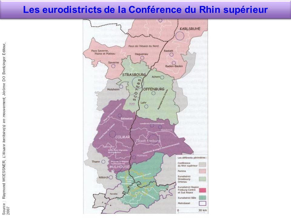 Les eurodistricts de la Conférence du Rhin supérieur
