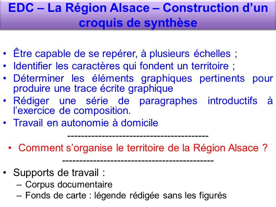 EDC – La Région Alsace – Construction d'un croquis de synthèse