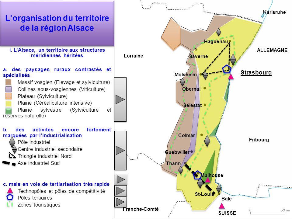 L'organisation du territoire de la région Alsace