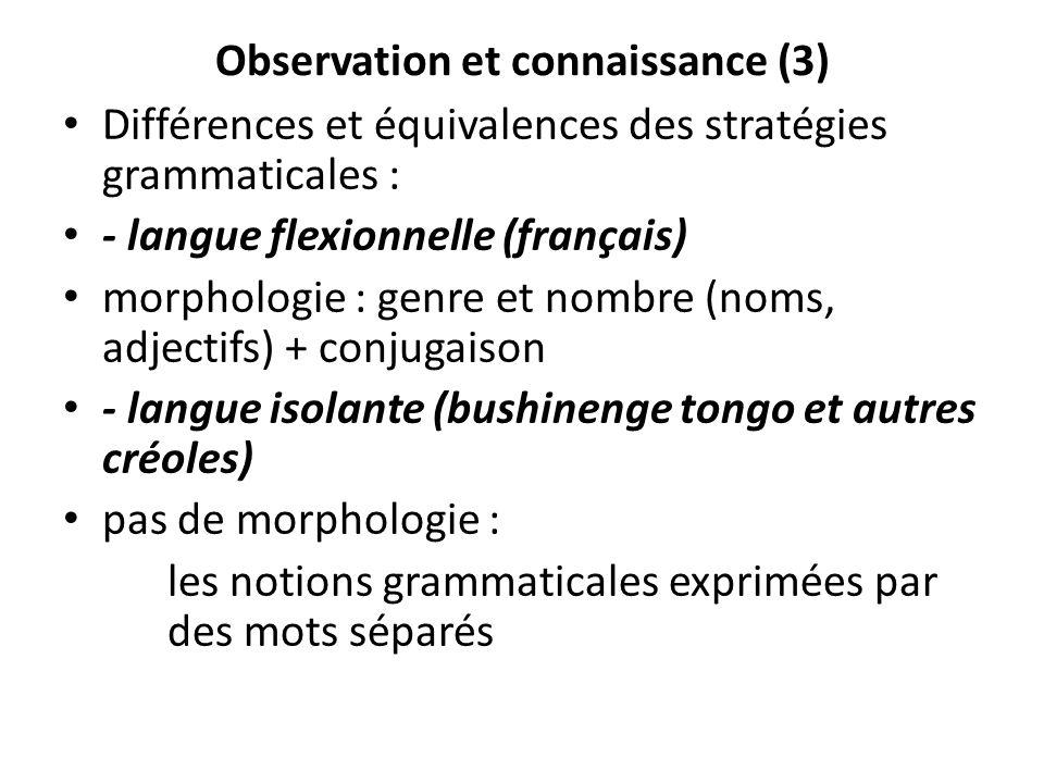 Observation et connaissance (3)