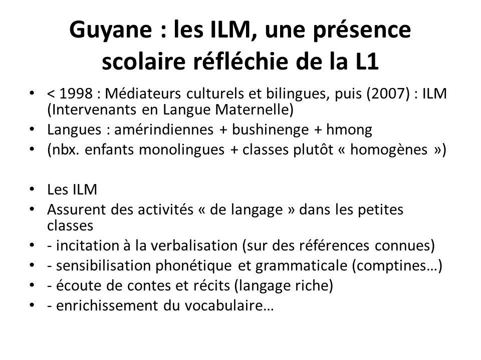 Guyane : les ILM, une présence scolaire réfléchie de la L1