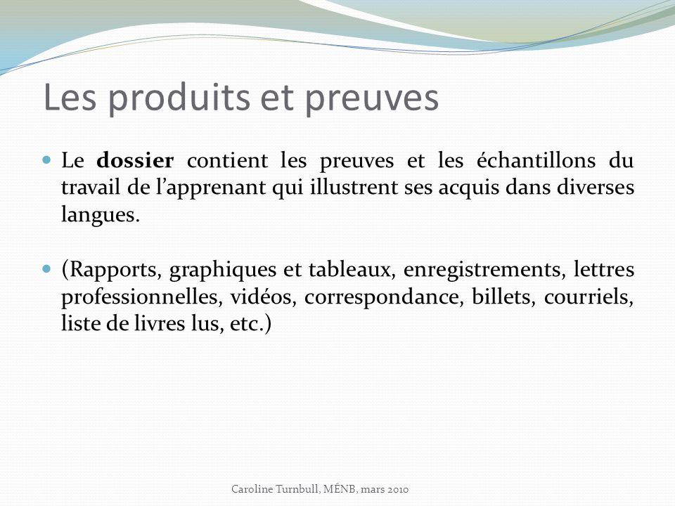 Les produits et preuves