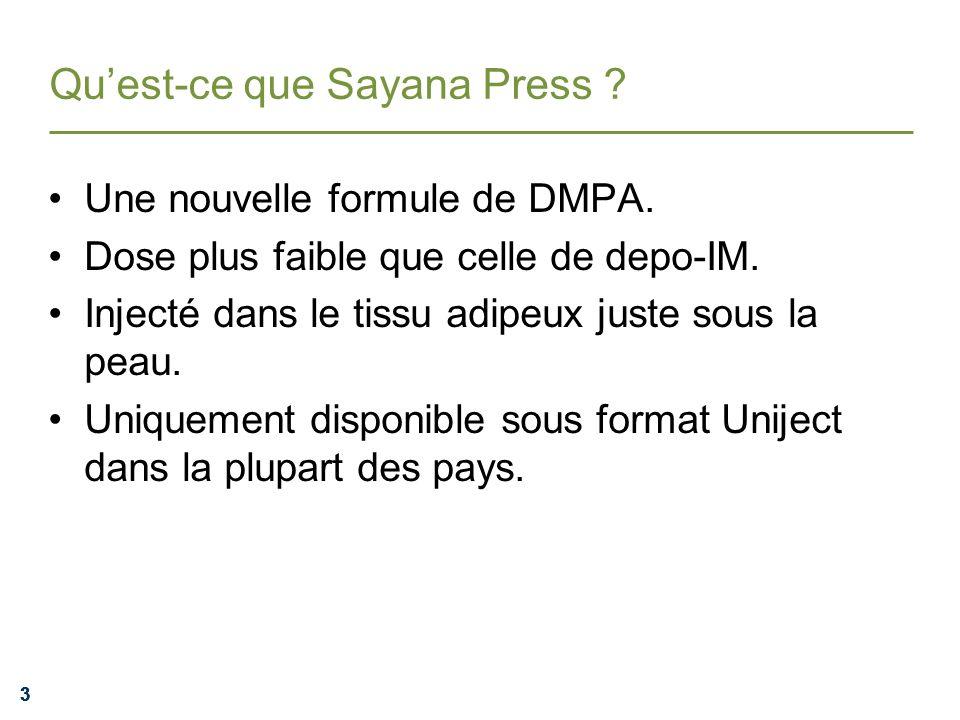 Qu'est-ce que Sayana Press