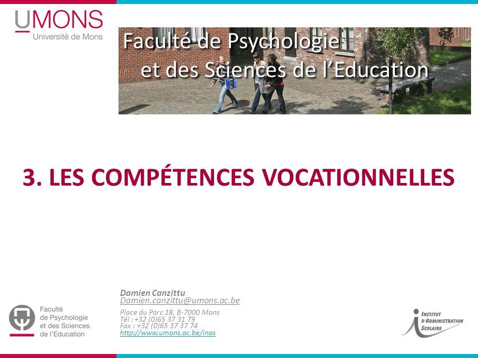 3. Les compétences vocationnelles