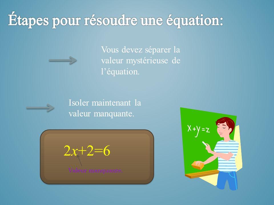Étapes pour résoudre une équation: