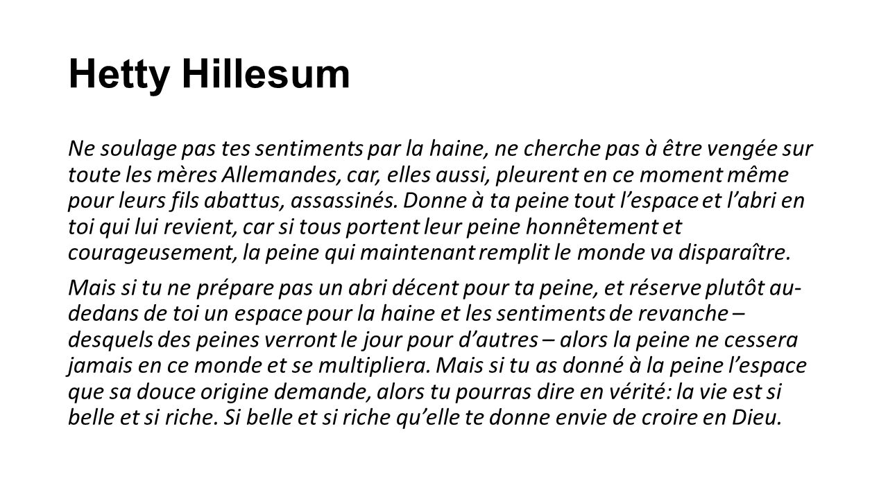 Hetty Hillesum