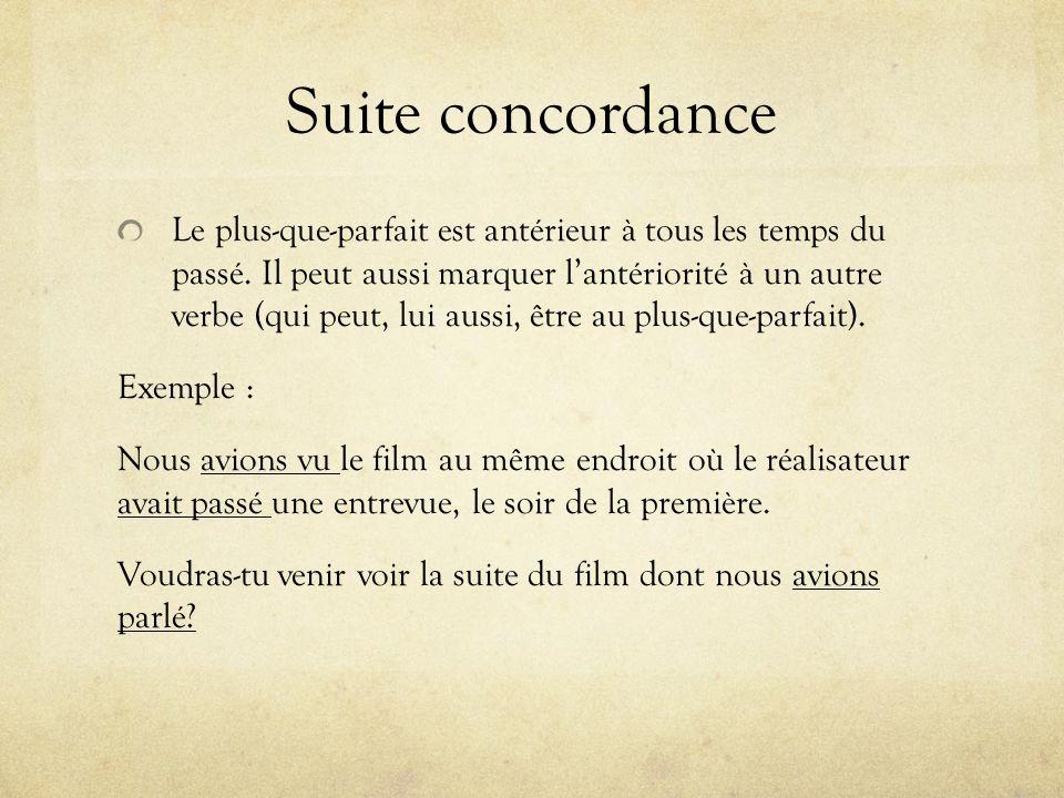 Suite concordance